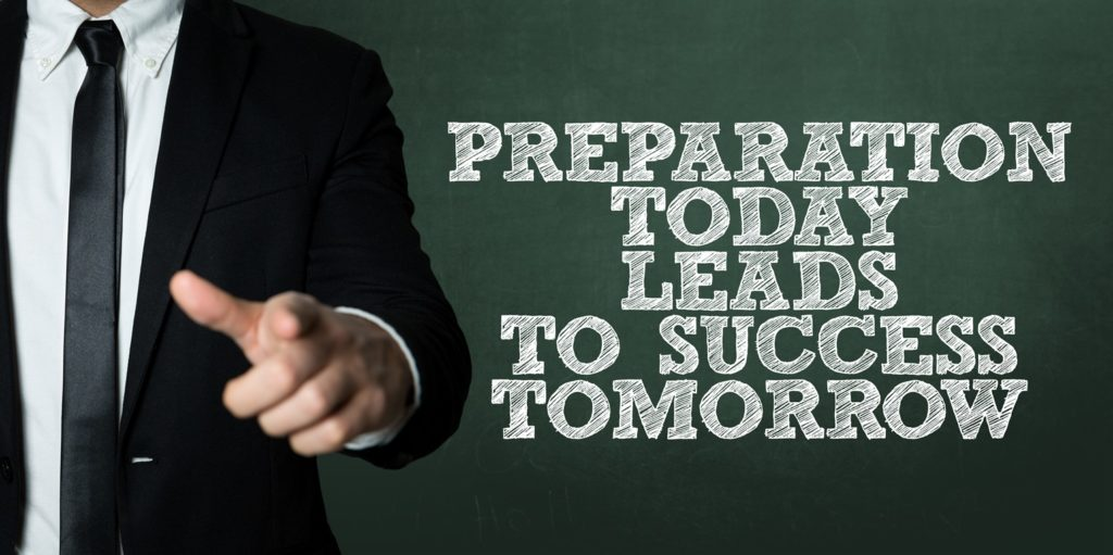 Preparation leads to confidence